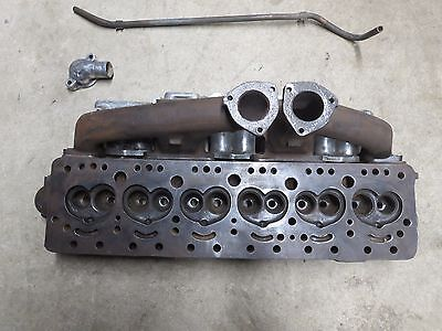 Austin Healy 6 Cylinder Head  with Intake & Ehaust Manifolds & Misc Hardware