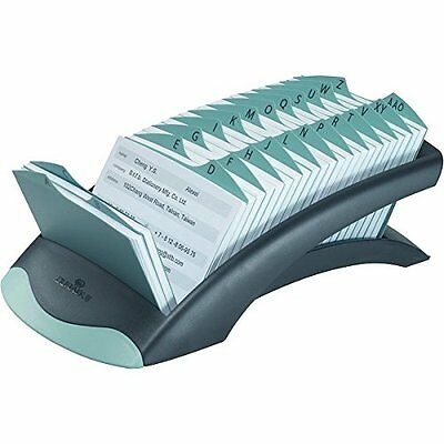 Durable DURABLE TELINDEX, Black Desk Address Card File, 500 Double-Sided Cards,