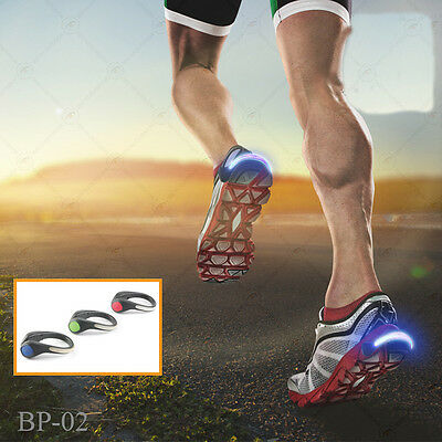 Shoe Clip Glowing LED Lights Running Sports High Visibility Adults Children 1Pcs