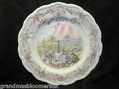 """Royal Doulton Brambly Hedge 8"""" Wall Plate The Wedding 1St Quality Beautiful"""