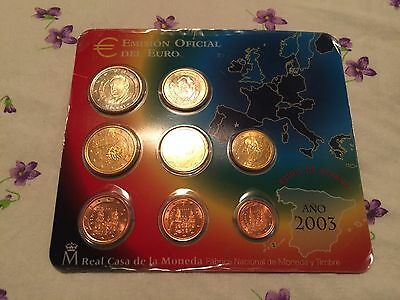 Serie Divisionale Euro 2003 Spagna  Espagne Spain Spanien Spanje Fdc Unc Kms