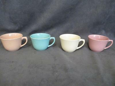 Bauer Pottery LA LINDA - 4 Cups Only - Matte Finish  - Variety of Colors  vb
