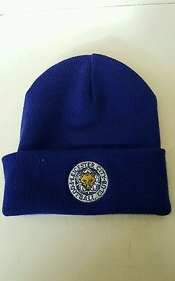 LEICESTER CITY Wooly Hat  NEW Beanie Hat The Foxes, , Blue Army