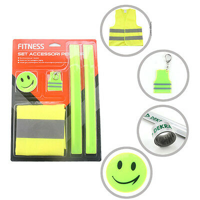 Reflective Vest Set Safety Kits High Visibility Night Sports Gear Adult Children
