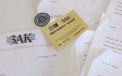 3AK Melbourne Radio - Letter, Security Pass, Dog Tag and News - 1960s & 1980s