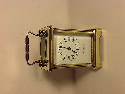 Antique French Brass Carriage Clock, 5 glass face, made for F&G.R. Lowson,Paris