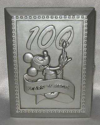 """Disney 100 Years Pewter 4"""" x 6"""" Photo Frame with Pin"""