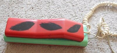 COOL Vintage Retro Swatch 1980s Push Button phone 1980s pop art red & turquoise