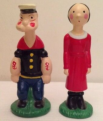 Popeye and Olive Oyl Ceramic Salt and Pepper Shakers, 1960's(RARE)