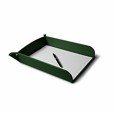 Lucrin - A4 Paper Tray - Dark Green - Smooth Leather
