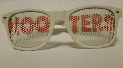 RARE HOOTERS Restaurant Bar Sunglasses Collectible White &Orange Souvenir Adult