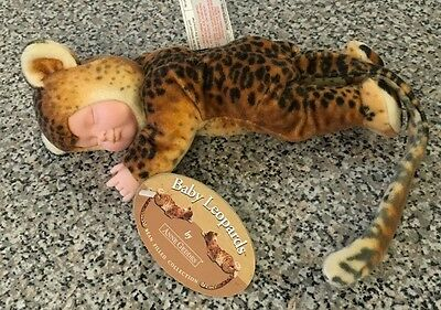 Anne Geddes Baby Leopards Doll NEW NWT Bean Filled Collection