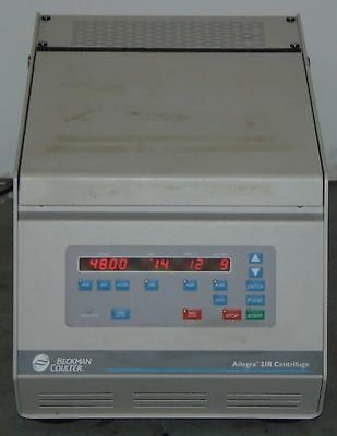 Beckman Coulter Allegra 21R Refrigerated Centrifuge With  S4180 Rotor
