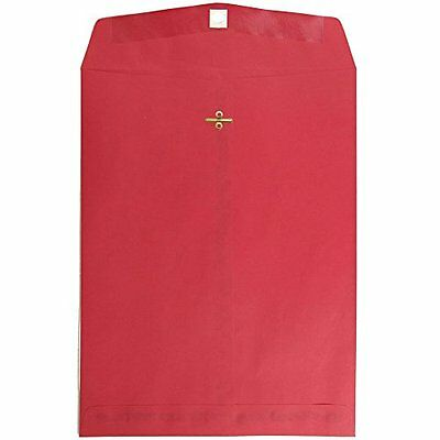 "JAM Paper 10"" x 13"" Open End Catalog Envelope with Clasp Closure - Christmas Red"