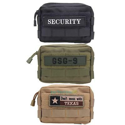 Tactical Military Molle Utility Accessory Magazine Pouch Bag Embroidery Patch