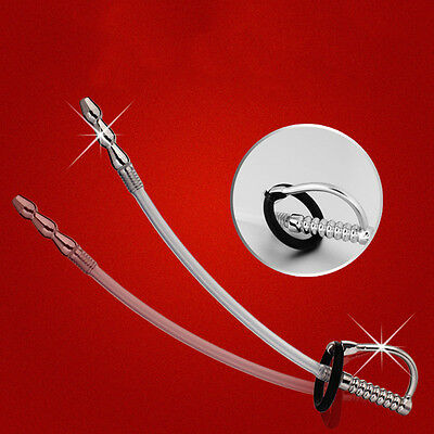 Sexy Men Male Gay Silicone Urethral Dilator Sound Stretching Plug Catheter New