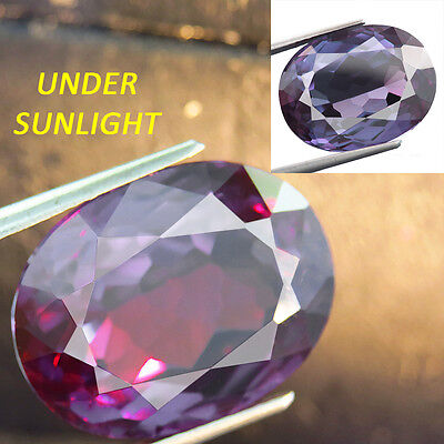 28.00ct LAB CREATED AWESOME RUSSIAN CZOCHRALSKI ALEXANDRITE COLOR CHANGE OVAL