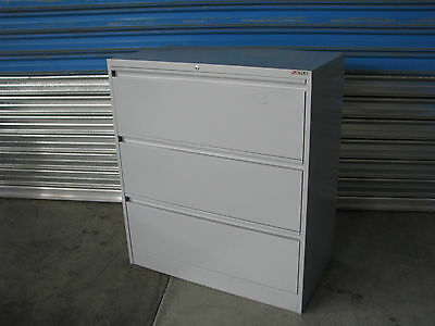 3 Drawer Lateral Filing Cabinet Office Storage - Ausfile