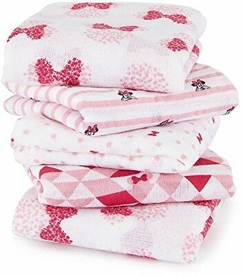 Aden By Aden + Anais Muslin Squares 5-pack- Minnie Mouse (60 X 60cm)