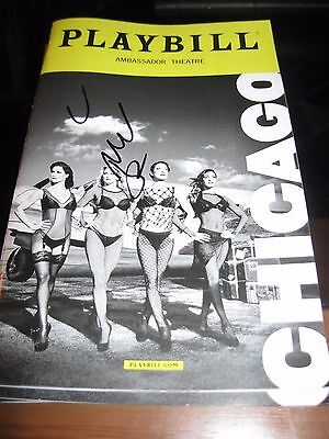 Chicago Broadway playbill Autographed by Mel B of the Spice Girls