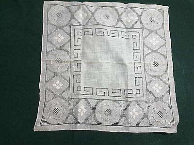 Fine Embroidered Madeira?  LINEN Handkerchief HANKIE*** Free shipping!**