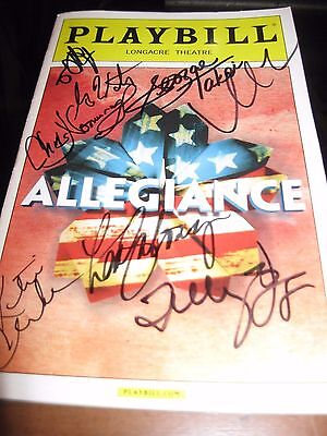Allegiance Broadway Autographed Playbill RARE!