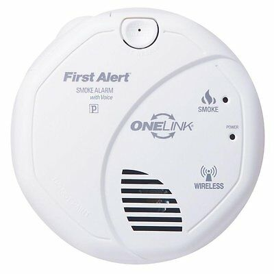 First Alert Smoke Alarm, Wireless Battery Powered Photoelectric Onelink w/ Voice