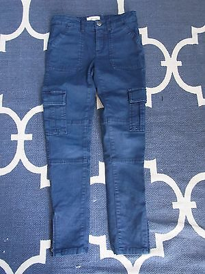 Girls Country Road Navy Cargo Pants Size 7