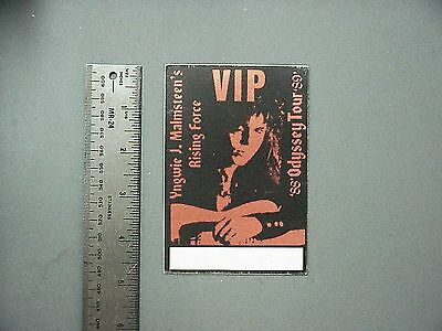 Yngwie Malmsteen backstage pass satin cloth sticker AUTHENTIC '88-'89 Tour Red!
