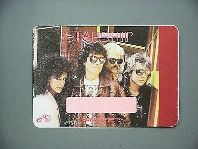 Starship satin cloth backstage pass AUTHENTIC Full color rectangle !