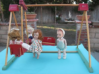 Vintage 1950's  VOGUE GINNY DOLL GYM and SWING SET