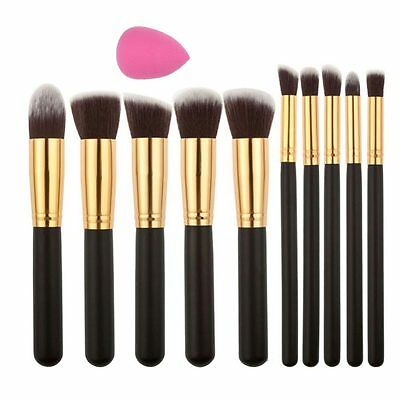 10pcs New Makeup Cosmetic Eyeshadows Blush Brush Brushes Set Kit For Kabuki