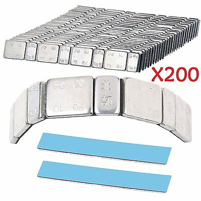 200x Adhesive Lead Free 60G Strips Stick On Wheel Balance Weights Cars Motorbike
