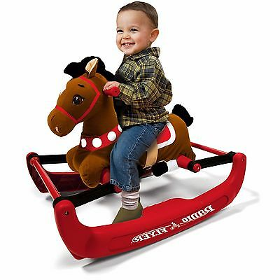 Plush Rocking Horse Toddler Ride On Toys Baby Kids Rocker Animal Chair Stuffed