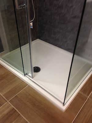1200x900x40 Shower Tray And Waste
