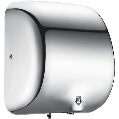 1800W Commercial Stainless Steel Automatic Hand Dryer Quiet & Compact Heavy Duty