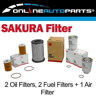 2 Oil, 1 Air, 2 Fuel Filter Service Kit fit Navara D22 ZD30DDT 3.0L Diesel 01-07