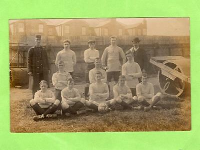 Post Office F C  Football Club RP pc used Luton 1908 Ref A466