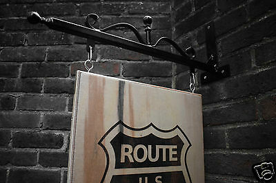 Personalised Hanging Wood Sign Engraved hanging sign Shop sign Pub sign Bar sign
