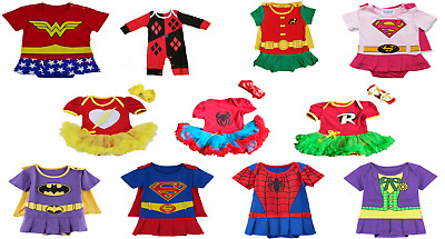 Superhero Comic Baby Toddler Girl Party Costume/Fancy Dress/Outfit/Romper.UK,new