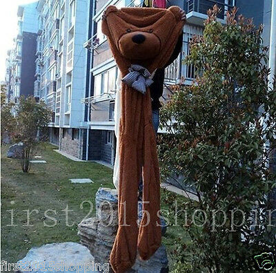 78''/200cm Giant brown BIG TEDDY BEAR cover semi-finished product no cotton gift
