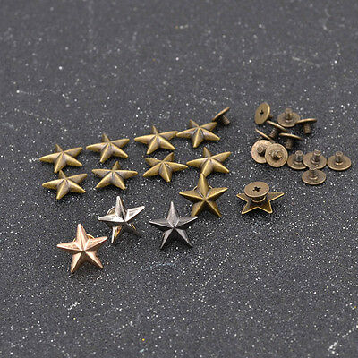 Five-pointed Star Screw Studs Rivets Leathercraft Hat Shoes DIY Decorative
