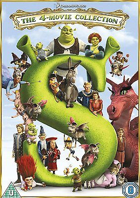 Shrek 1 2 3 & 4: The Whole Story - Complete 4-Movie DVD Box Set Collection NEW