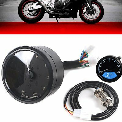 Digtal Speedometer Odometer LCD Waterproof Motorcycle Cycling Tachometer Speedo
