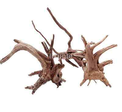 Fish Tank Driftwood Natural Wood Tree Trunk Aquarium Decor Plants Ornament CA