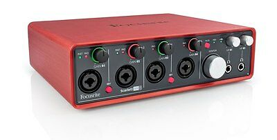 Scarlett 18i8 (1st Gen) USB Audio Interface with MIDI IO and Software Bundle
