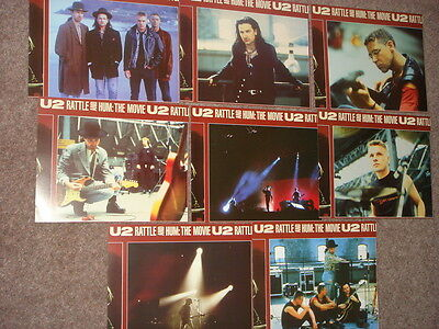 "U2, lovely set of 8 film stills from ""Rattle & Hum"" movie, all 10"" x 8"""