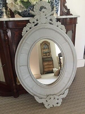 French Grey Mirror Villa Maison White Provincial Louis NEW Antique Style $595