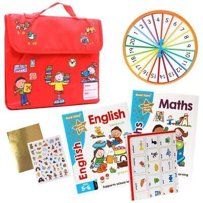 Goldstars Learning Bag English & Maths Ages 5-6 (Set of 2 books) NEW EDITION!!!!