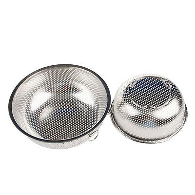 1Pc Stainless Steel Kitchen Mesh Sifter Colander Strainer Sieve Rice Food Basket